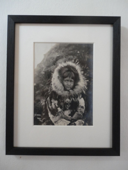Beverly B. Dobbs Antique Photo of an Eskimo Inuit Girl in Fur circa 1900